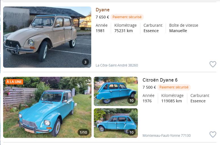 Dyane, les prix flambent !! en 2021... Captur13