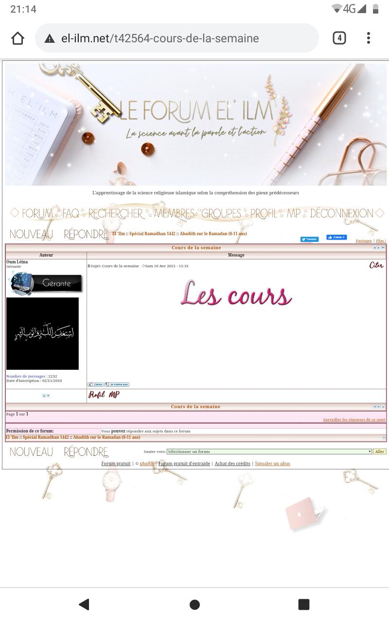 Discussions/questions sur cet apprentissage Screen30