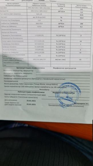 Моя история болезни (г. Алматы Казахстан) 20210214