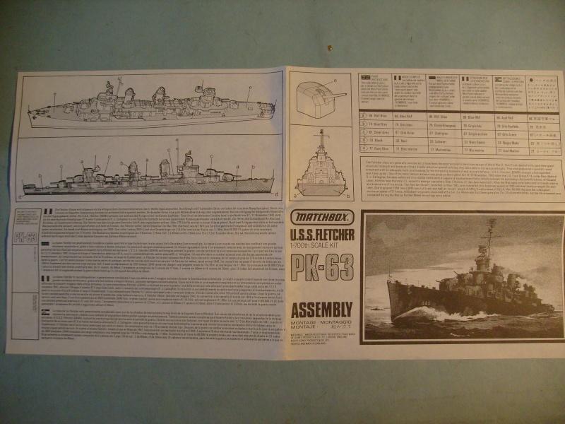 [MATCHBOX] Destroyer DD 445 USS FLETCHER 1/700ème Réf PK63 S7306887