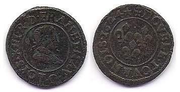 Double tournois de Louis XIII, 1624 O 003qd810