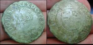 Monnaie des Pays Bas Espagnol de Philippe II d'Espagne E110