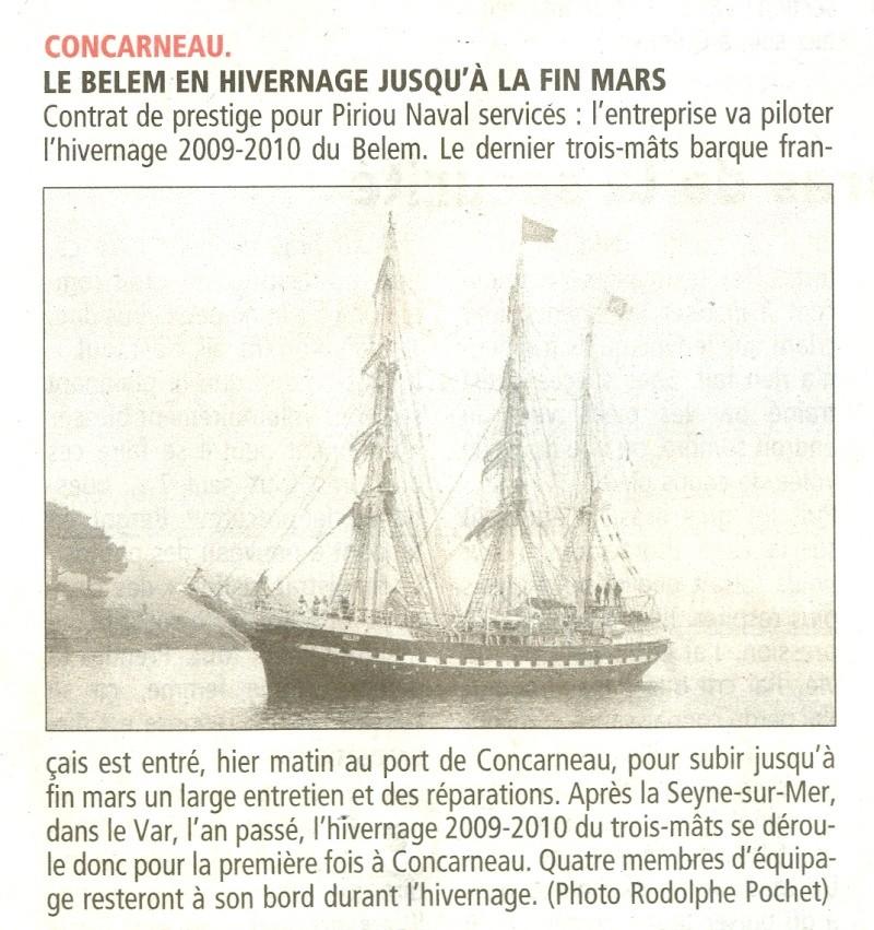 LE BELEM EN HIVERNAGE à CONCARNEAU Numari63