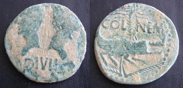 As de Nîmes (Nemausus, Galia) Colnem10