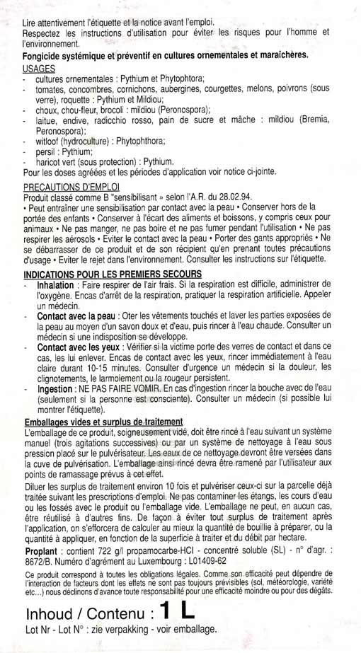 EAU DE PLUIE Propla12