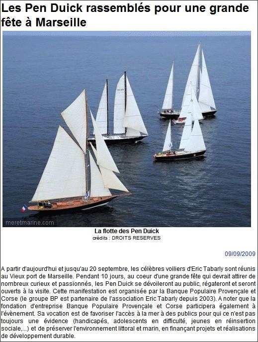 Rassemblement des Pen Duick jusqu'au 20/09/09 à Marseille ! Pendui10