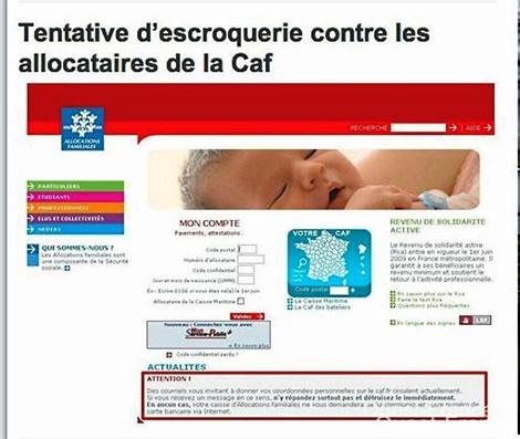 Le phishing s'attaque à la CAF Cafphi10