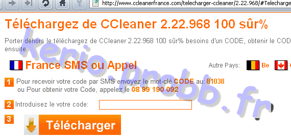 Arnaque ccleanerfrance.com (CCleaner) Cclean10
