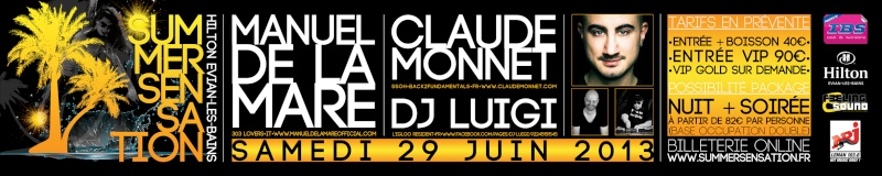 SUMMER SENSATION 2013 @ Hilton Evian-les-Bains Summer11