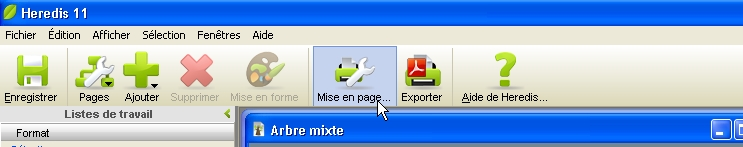 Comment enregistrer/exporter mon arbre en format PDF? 1212