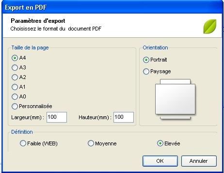 Comment enregistrer/exporter mon arbre en format PDF? 1213