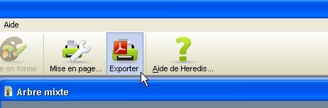 Comment enregistrer/exporter mon arbre en format PDF? 1214