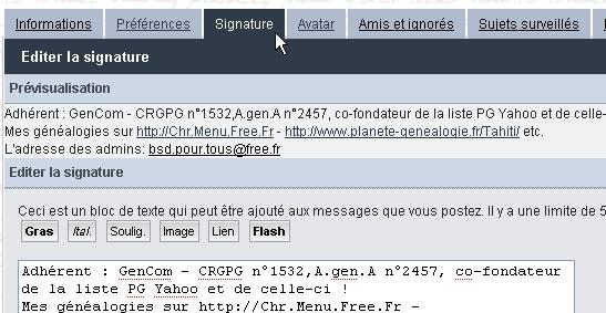 Comment inserer une signature automatique dans ses messages ? Screen23