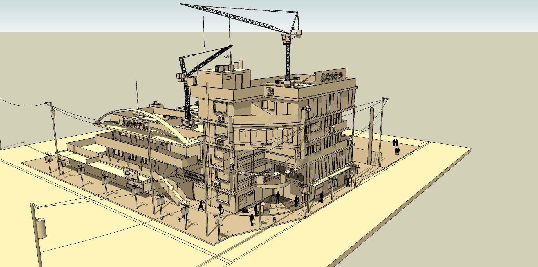 SketchUp'eur architecte -AnthO'- - Page 5 Hotel_10
