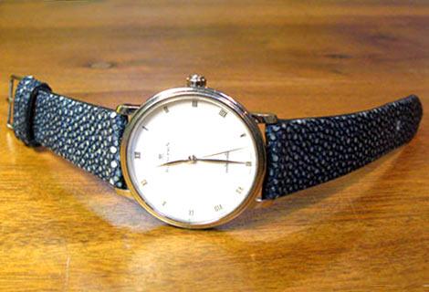 Bracelet en Galuchat Blancp11