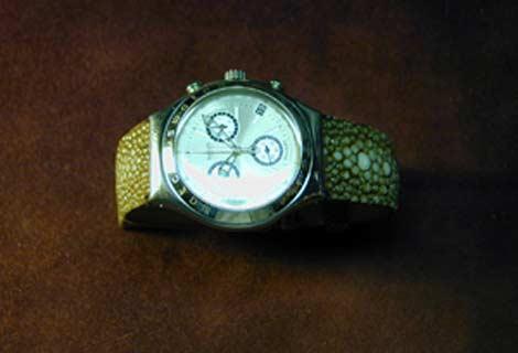 Bracelet en Galuchat G8_str10