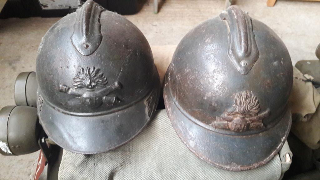 Casque artillerie 14 / 18 ESC - AOUT 2 20190836