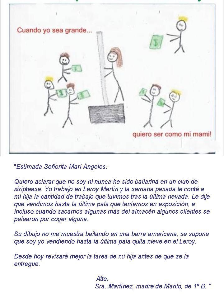 Dibujo de una niña, y carta aclaratoria de su madre a la profesora Vvv21
