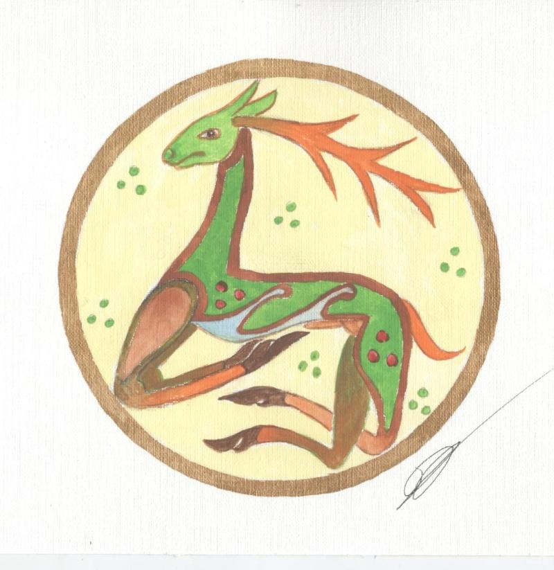 J'aime les entrelacs et autres dessins celtiques - Page 6 Cerf_c10