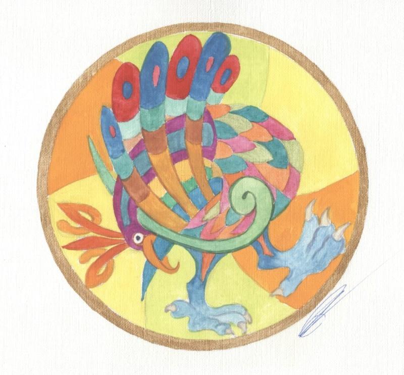 J'aime les entrelacs et autres dessins celtiques - Page 5 Oiseau10