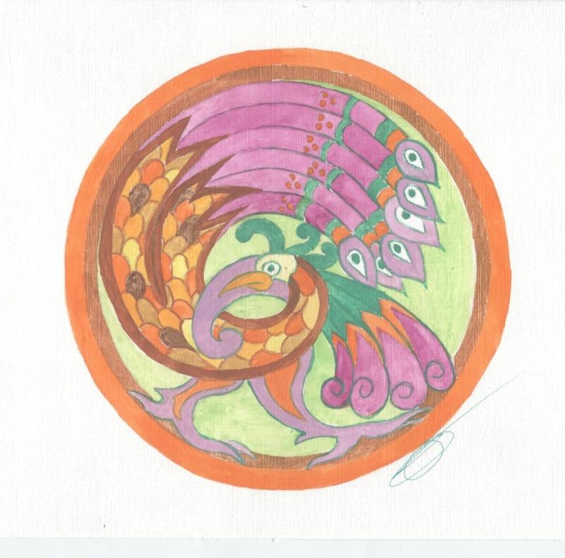 J'aime les entrelacs et autres dessins celtiques - Page 6 Oiseau11