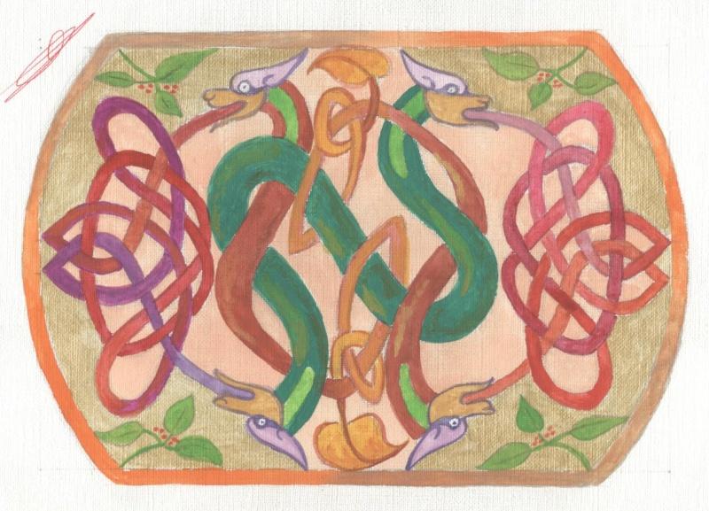 J'aime les entrelacs et autres dessins celtiques - Page 5 Serpen10
