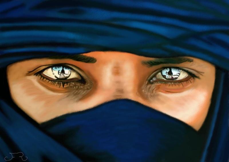 Commande un air de déjà vue (Touareg Bleu painting) Touare10