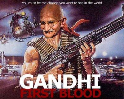 Locandine divertenti Gandhi10