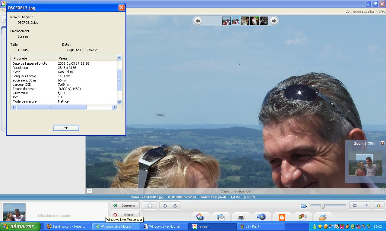 2009: Le 01/08 à 17h52 - observation fuseau gris, Orcival - (63) P111