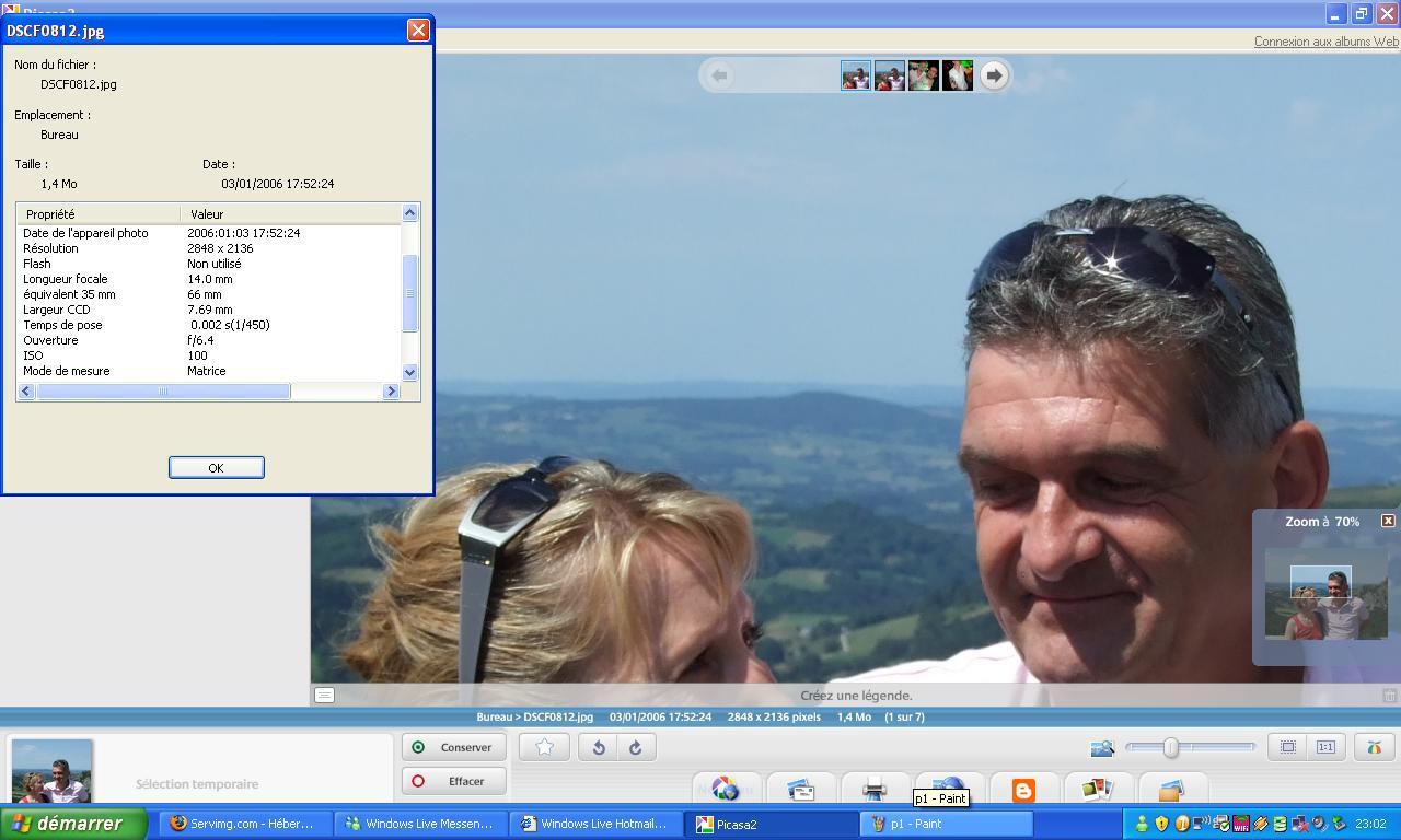 2009: Le 01/08 à 17h52 - observation fuseau gris, Orcival - (63) P210