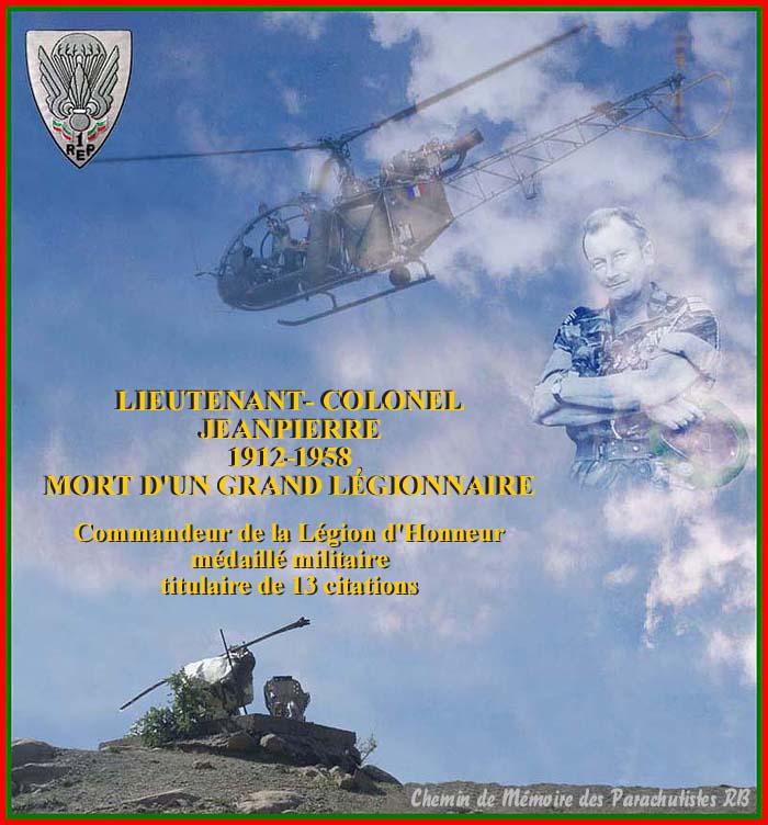 Le Lieutenant-Colonel Jeanpierre Un soldat de légende 2_titr10
