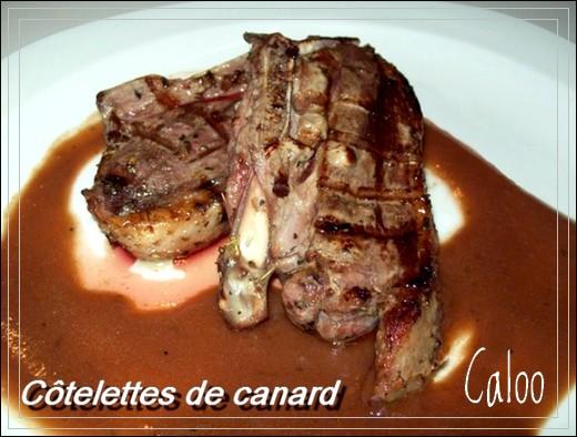 Côtelettes de canard, sauce demi-glace Catele10