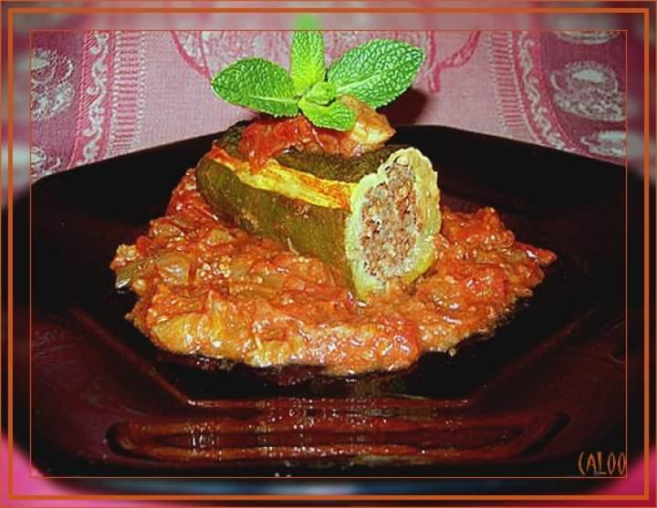 Courgettes farcies au mouton à la libanaise Courge10