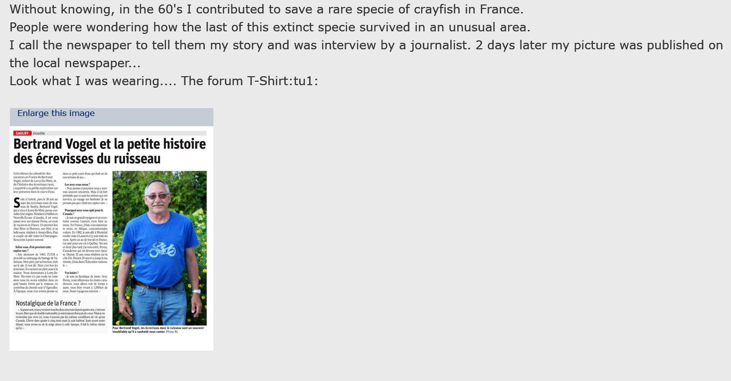 The forum T Shirt on a French newspaper Captur11