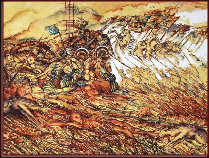 salle d'exposition temporaire  : commémoration de la bataille d'Anthon Anthon10