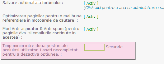 Noi functionalitati: sistem de reputatie, de puncte, anunturi, citate multiple, etc Flood10
