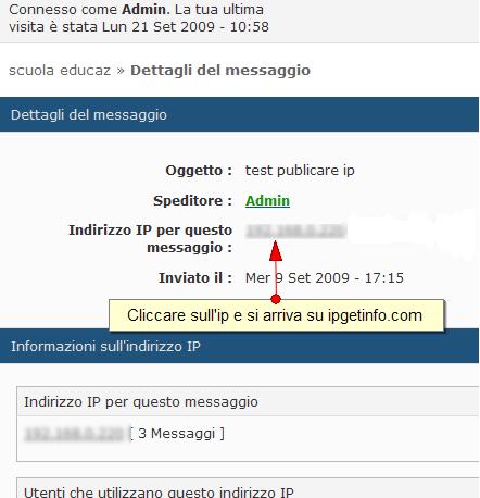 Indirizzi IP accessibili via post di un membro Ipgeti10
