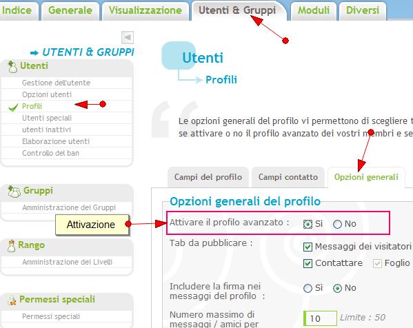 Nuove funzionalità: sistema di punti, di reputazione, annunci, citazioni multiple, ecc.. Profil11