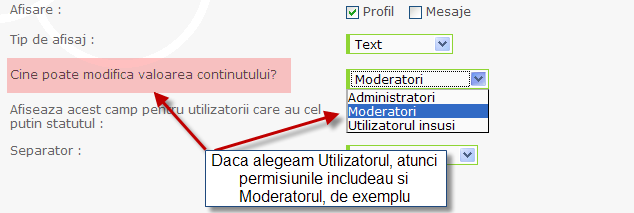 Noi functionalitati: sistem de reputatie, de puncte, anunturi, citate multiple, etc Profil20