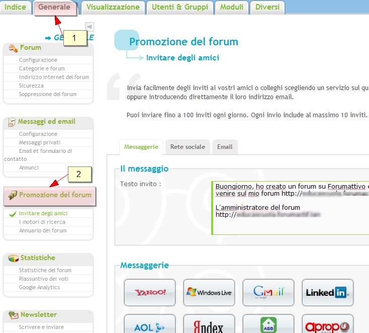 Nuove funzionalità: promozione del forum, aumento del traffico, ecc Promot10