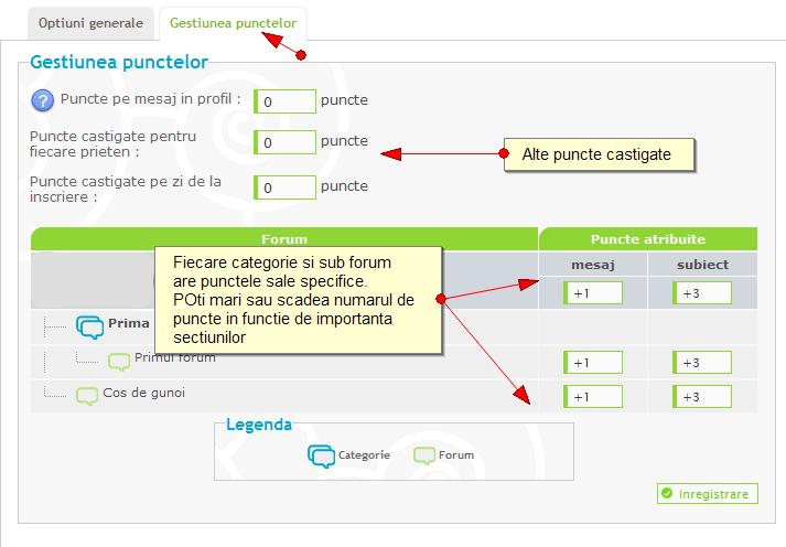 Noi functionalitati: sistem de reputatie, de puncte, anunturi, citate multiple, etc Puncte11