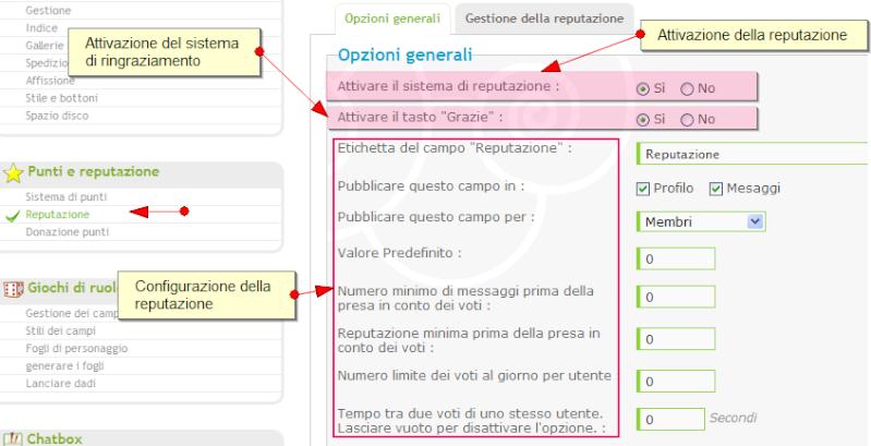 Nuove funzionalità: sistema di punti, di reputazione, annunci, citazioni multiple, ecc.. Reputa10