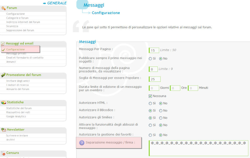 Nuove funzionalità: promozione del forum, aumento del traffico, ecc Separa10