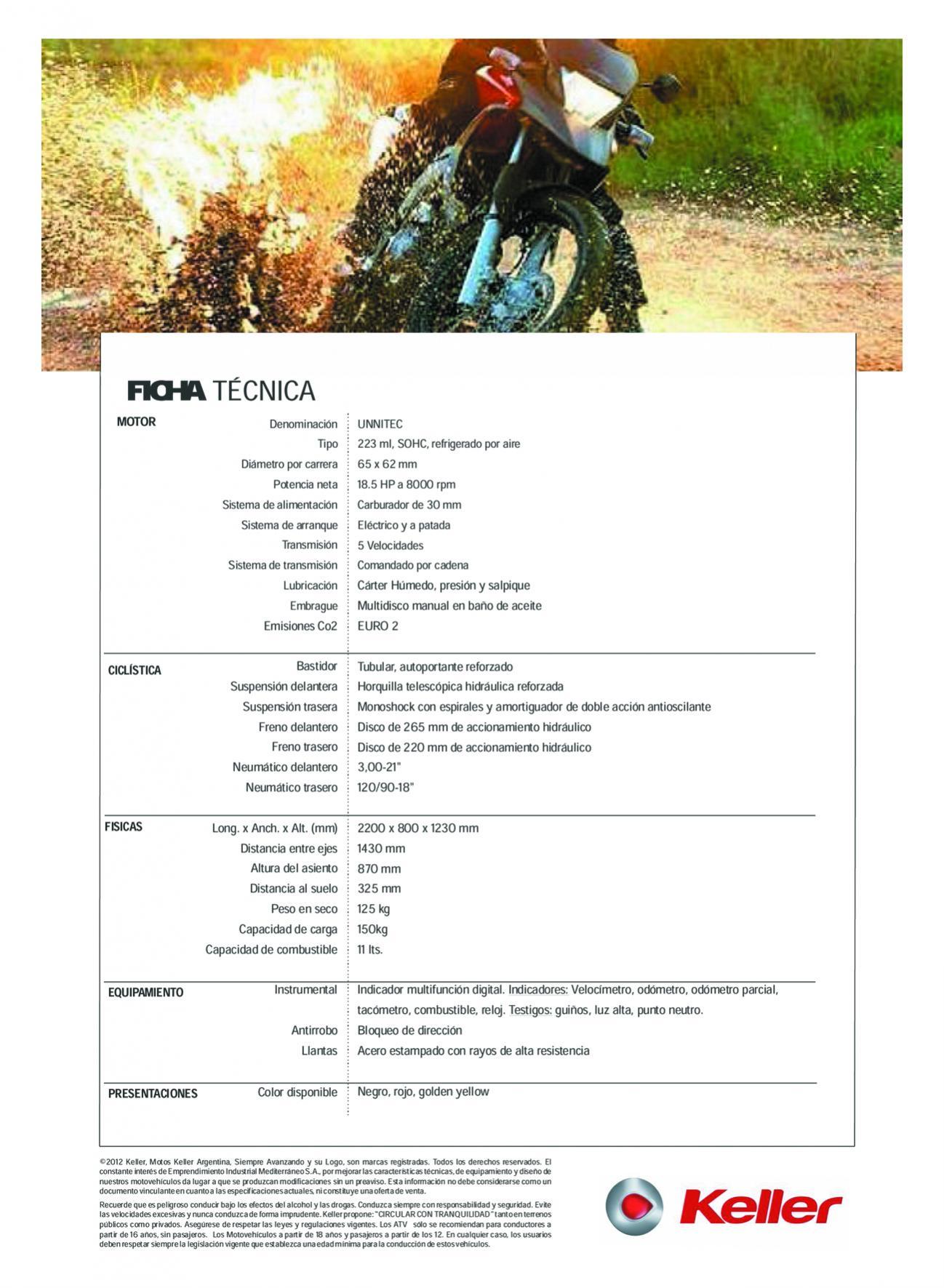 KELLER QUASAR 260cc Ficha10
