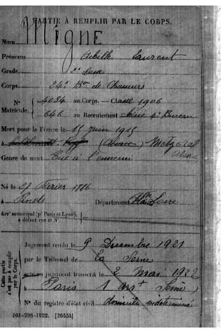 Plaque d'identité de 1914 trouvée Srvimg10