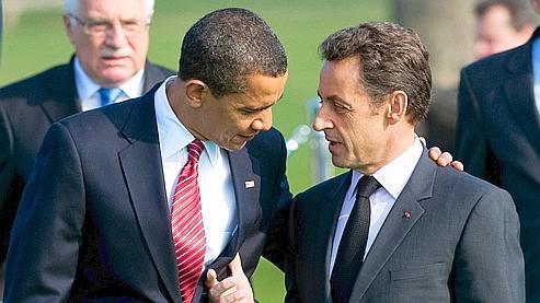 Sarkozy ap fè rondomon lè Obama fini pale Sarkoz10