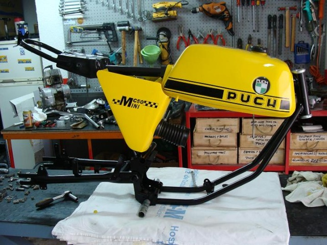 Puch MC50 especial 1ª Serie Chasis13
