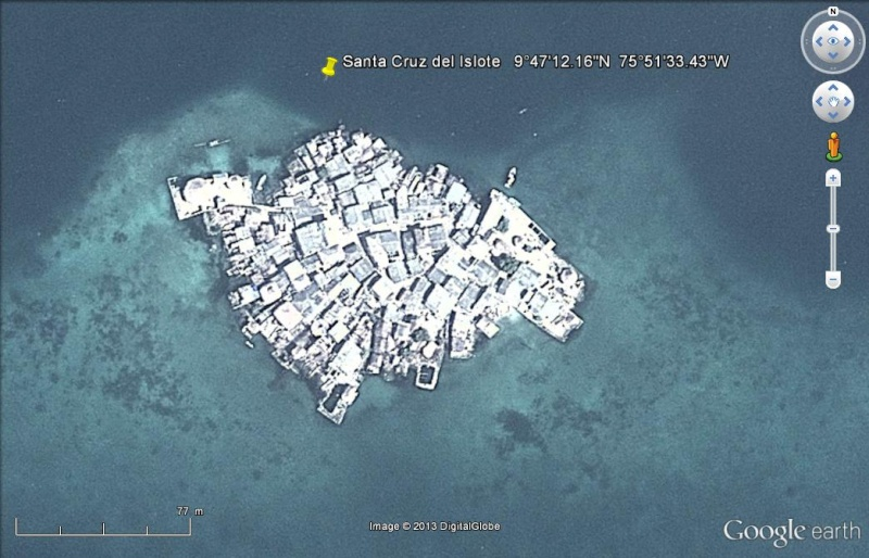l'île la plus densément peuplée au monde - Santa Cruz del Islote Santa10