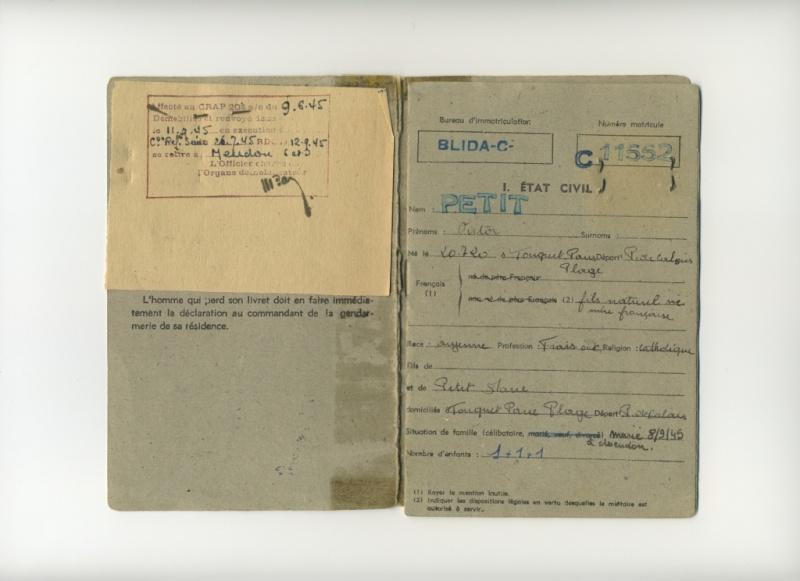 PETIT Victor - brevet n°893 à FEZ (Maroc) Représenté par son fils Denis Livret10