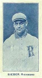 e222 AWH Caramels, Virginia League. 1910 Sieber11